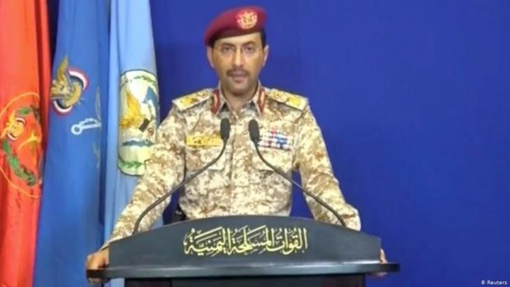 Houthi army spokesman Jihja Sari (photo: Reuters)