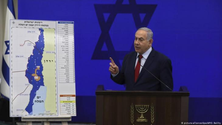 Prime Minister Netanyahu announces his intention to annex the Jordan Valley on 10.09.2019 (photo: picture-alliance/dpa)