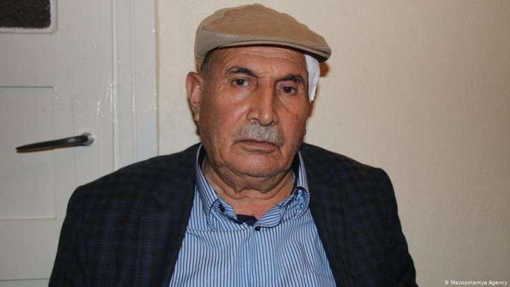 Ekrem Yasli following treatment in the hospital in Canakkale, Turkey (photo: Mezopotamya Agency)