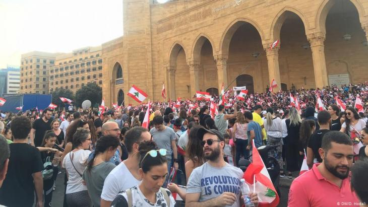 Anti-government protests in Beirut (photo: DW/Hodali)