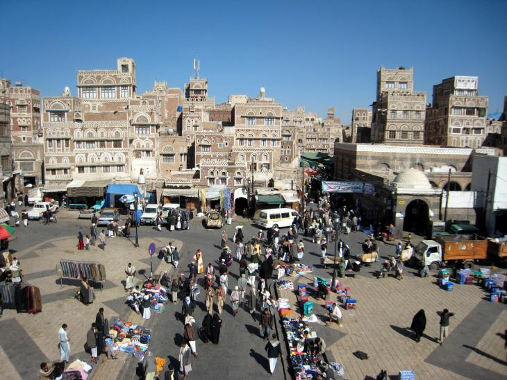 View of the historic centre of Sanaa (photo: Guy Helminger)