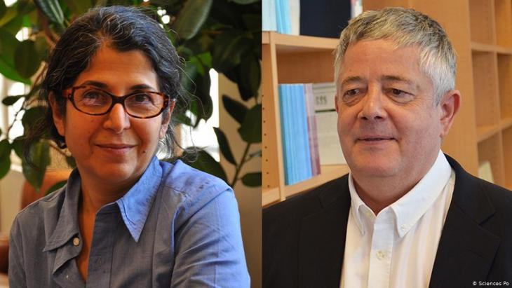 French-Iranian anthropologist Fariba Abdelkhah and her Sciences Po colleague Roland Marchal, both detained by Iran in July 2019 (photo: Sciences Po)