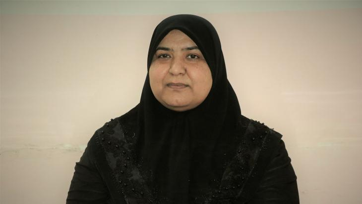 Feryal al-Kaʹabi, president of Awan Organisation for Awareness and Capacity Development (photo: Goethe-Institut | Perspectives, Manar Al-Zubaidi)