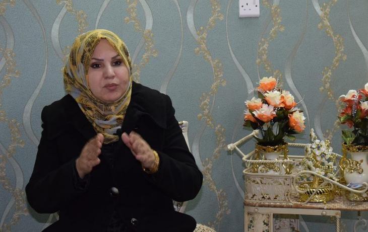 Hakima al-Shibli, member of the Diwaniya Governorate Council (screenshot; source: Goethe-Institut | Perspectives)