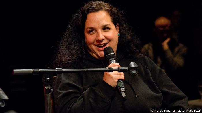 Blogger Nadia Shehadeh (photo: Literaturk/Marek Eggemann)