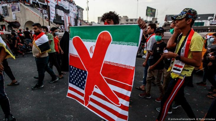 Anti-government protests in Baghdad on 03.11.2019 (photo: picture-alliance/dpa)