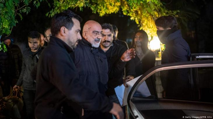 Ahmet Altan is re-arrested in Istanbul (photo: AFP/Getty Images)