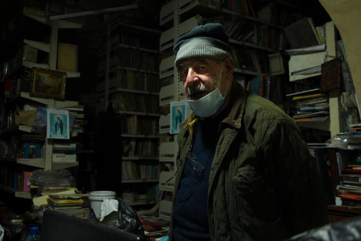 Sarrouj, director of Maktabat al-Sa'eh (photo: Hanna Resch)