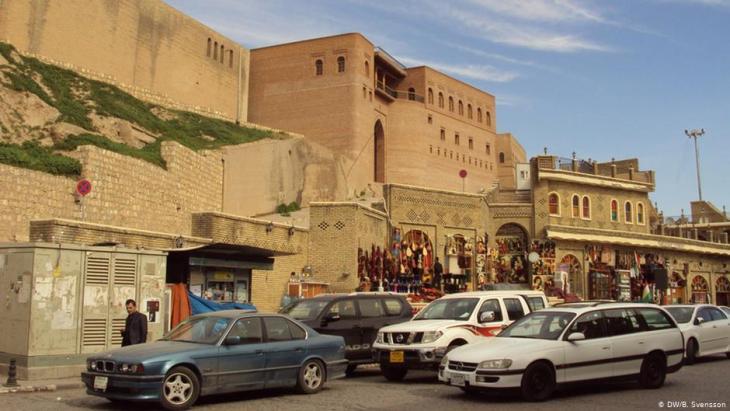 View of the citadel of Erbil (photo: Birgit Svensson/DW)