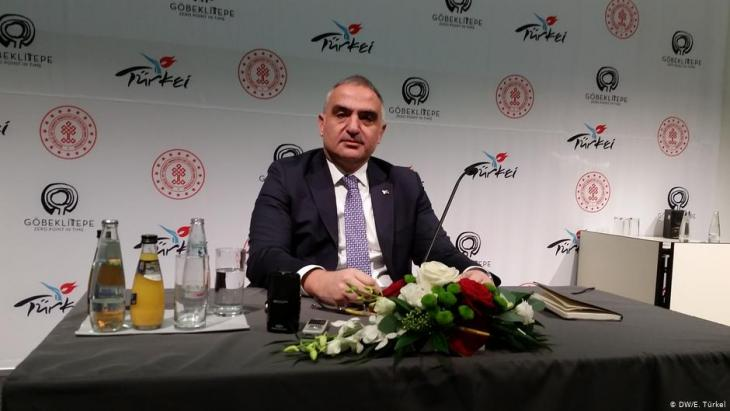 Turkish Culture and Tourism Minister Nuri Ersoy at the ITB in Berlin, 2019 (photo: DW)