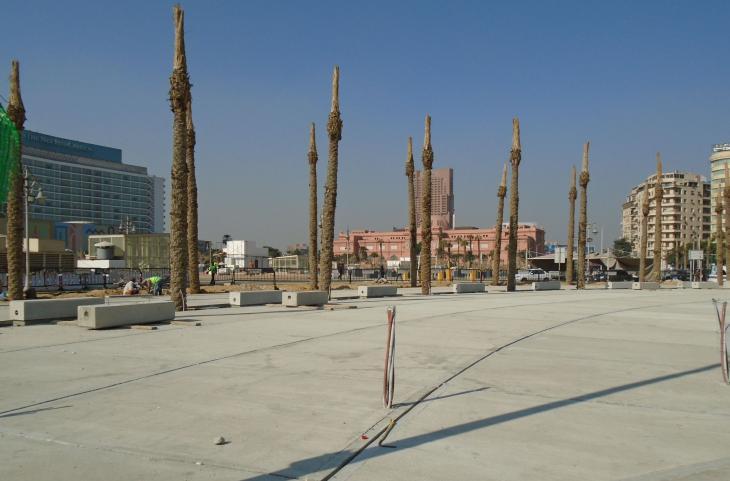 Cast in cement: Cairo's Tahrir Square (photo: Birgit Svensson)