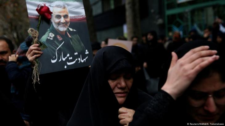 Hundreds of thousands mourn the assassination of General Soleimani in Tehran (photo: Reuters/WANA/N. Tabatabaee)
