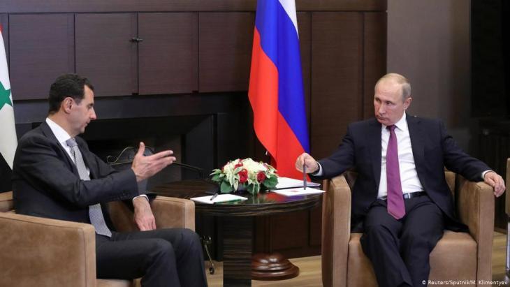 Russian President Vladimir Putin receives Bashar al-Assad in Moscow (photo: Reuters/Sputnik)