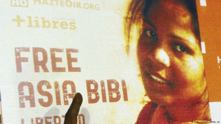 """Free Asia Bibi"" campaign (photo: AFP/Getty Images/Arif Ali)"
