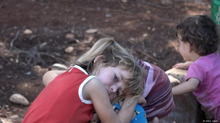 Syrian refugee children from Idlib (photo: DW)