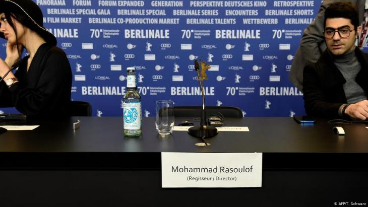 The director's empty chair at the 2020 Berlinale (photo: AFP)