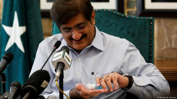 Murad Ali Shah, chief minister of Sindh province (photo: Reuters/A. Soomro)