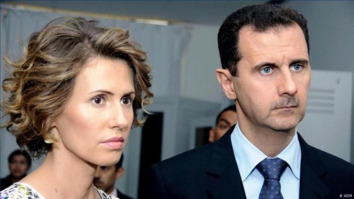 President Bashar al-Assad with his wife Asma al-Assad (photo: WDR)