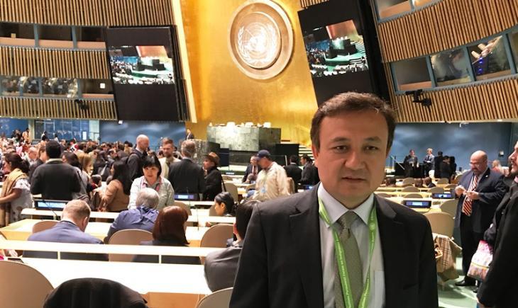 "President of the World Uighur Congress Dolkun Isa was born in Uighur Autonomous Region of Xinjiang, located in China's northwest. Wanted by Interpol for 21 years as a result of a ""red notice"" issued by China, Isa fled to Germany from the People's Republic in 1996 (photo: Dolkun Isa)"