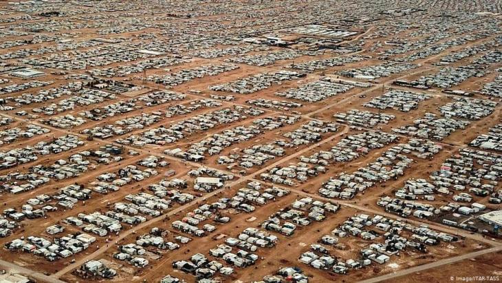Aerial view of Jordan's Zaatari refugee camp (photo: Imago/Itar-Tass)