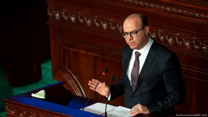 Tunisian prime minister Elyes Fakhfakh addressing parliament in Tunis (photo: picture-alliance/AP)
