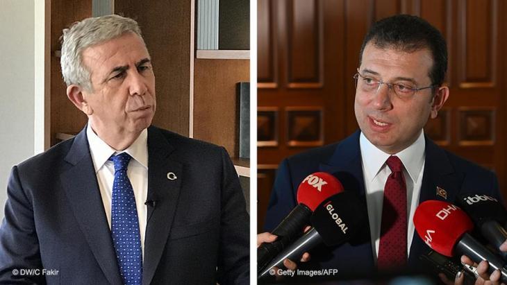 Leading lights of the opposition CHP: Mansur Yavas, mayor of Ankara (photo: DW/Cem Fakir) and Ekrem Imamoglu, mayor of Istanbul (photo: Getty Images/AFP/Ozan Kose)