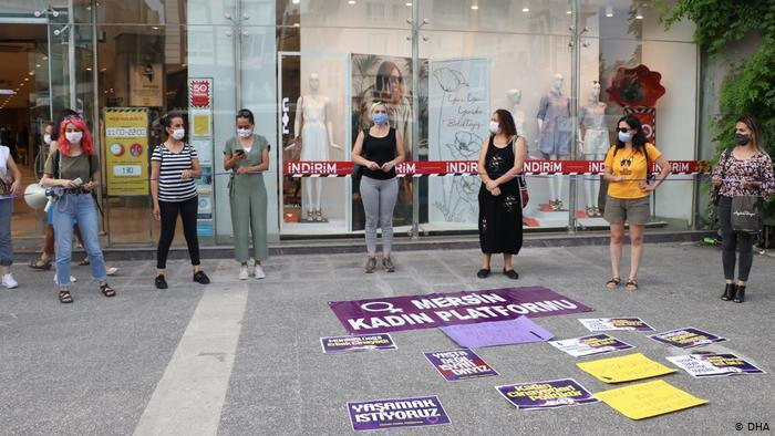 A women's rights organisation protesting against violence against women (photo: DHA)
