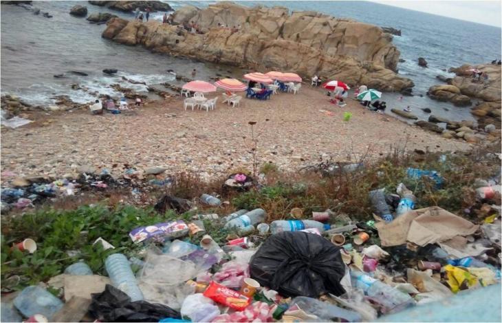 Cleaning a beach of rubbish at Jijel in Algeria (photo: Samia Balistrou)