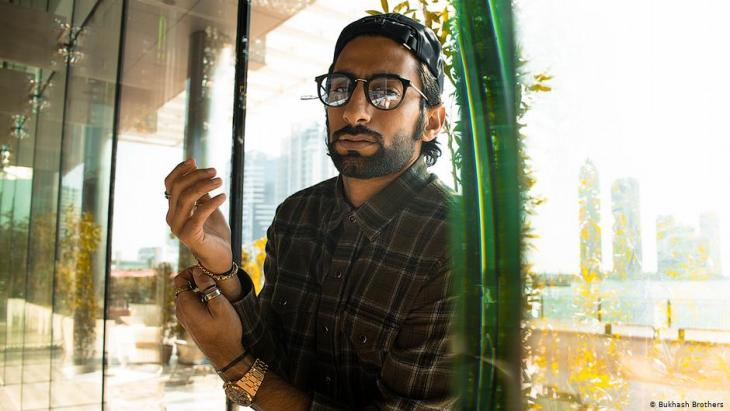 Emirati talk show host Anas Bukhash in Dubai (photo: Bukhash Brothers)