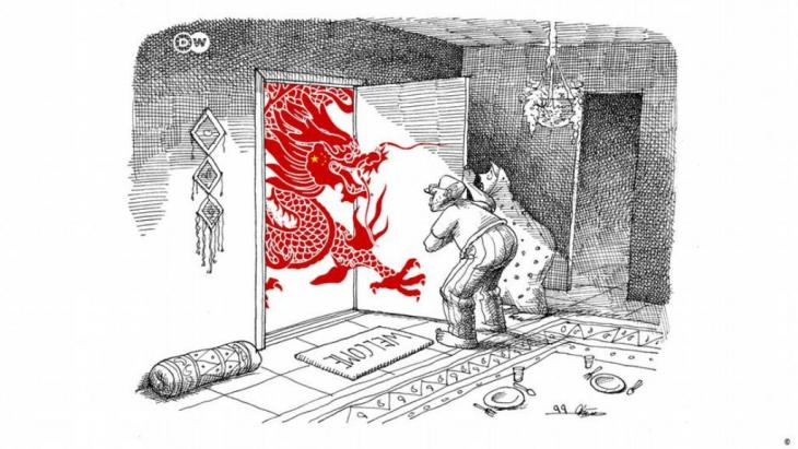 Caricature of the week by Mana Neystani: Iran-China cooperation agreement (photo: Mana Neystani)