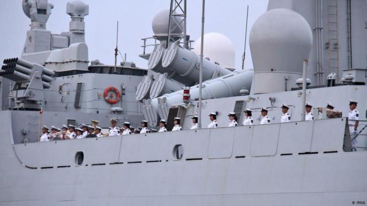 Chinese navy in the Persian Gulf for joint manoeuvres with Iran in 2014 (photo: IRNA)