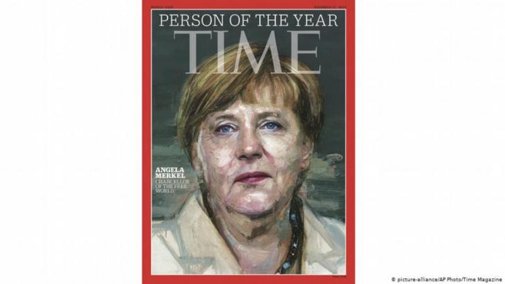 Angela Merkel on the cover of Time Magazine, 2015 (photo: picture-alliance/AP Photo/Time Magazine)