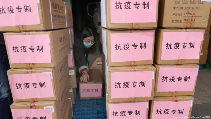 From China to Iran – a consignment of aid to fight the coronavirus pandemic (photo: picture-alliance/Zuma Press/TPG)