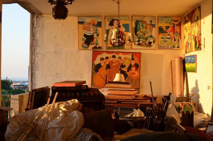 Windowless room in the Khodr family flat in Beirut (photo: Julia Neumann)
