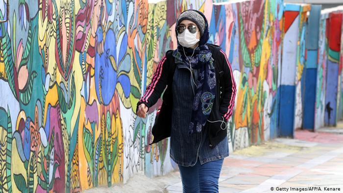 An Iranian woman wearing a face covering (photo: AFP/Getty Images/A. Kenare)