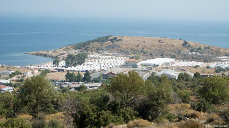 Kara Tepe refugee camp, Lesbos (photo: Henning Goll/DW)