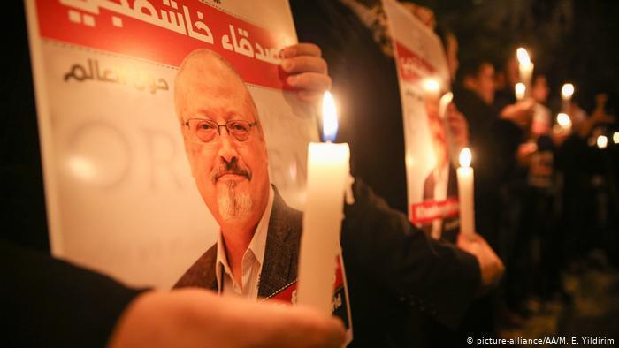 Vigil for the murdered journalist Jamal Khashoggi (photo: picture-alliance/AA/M. E. Yildirim)