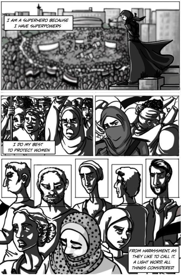 Webcomic Qahera image created by Deena Mohamed (©qaherathesuperhero/Deena Mohamed)