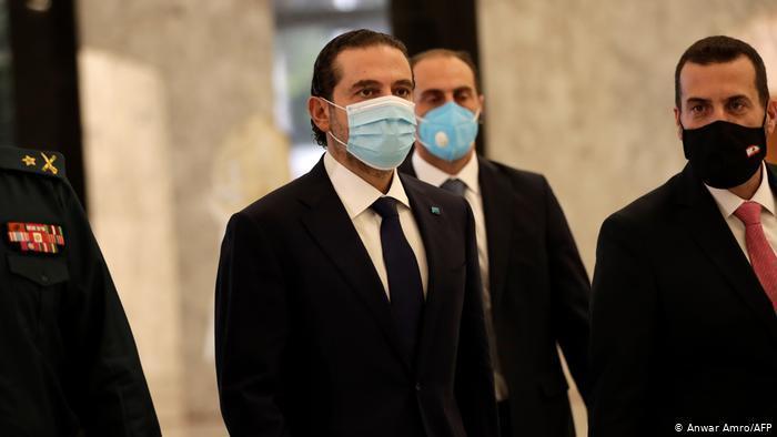 Saad Hariri leaving the office of Michel Aoun (photo: Anwar Amro/AFP)