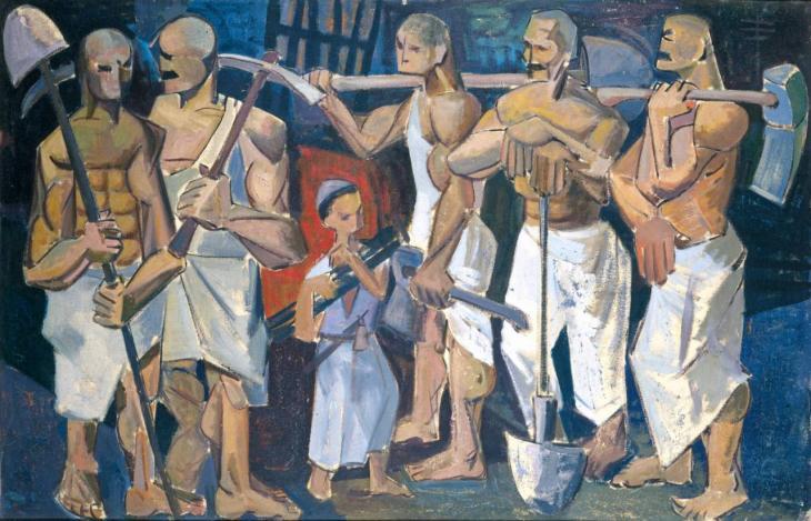 """The Hands"" 1956, by Iraqi artist Kadhim Haydar (photo: Waddah Faris, courtesy of: Dia Azzawi)"