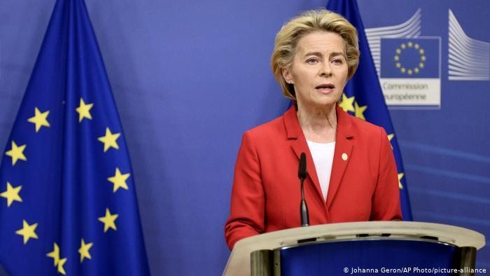 President of the European Commission Ursula von der Leyen (photo: picture-alliance/AP Photo/Johanna Geron)