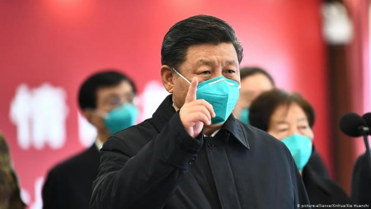 China's President XI Jinping visits corona hotspot Wuhan, where the virus first broke out (photo: picture-alliance/Xinhua)