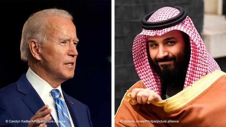 Photo montage: President-elect Joe Biden; Crown Prince of Saudi Arabia Mohammed bin Salman (source: DW)