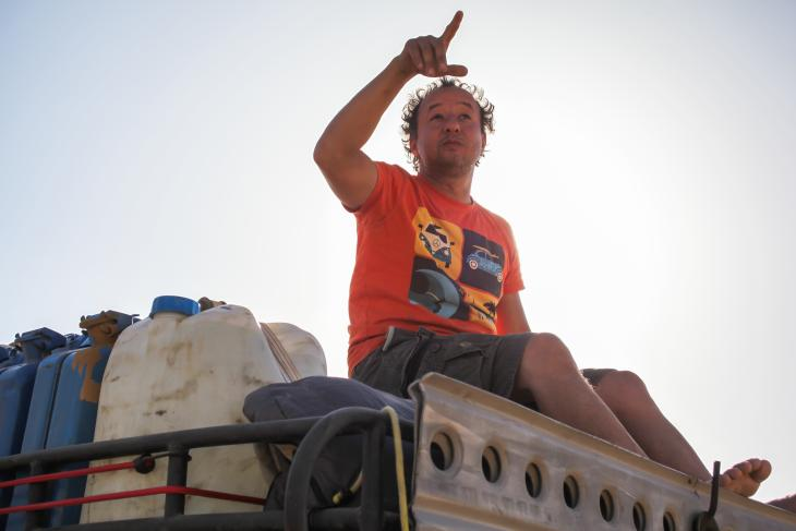 Human rights activist and director of EIPR human rights organisation Gasser Abdel Razek on a trip into the desert (photo: private)