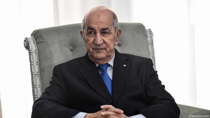 Algerian President Abdelmajid Tebboune before his hospitalisation in Germany (photo: Ryad Kramdi/AFP)