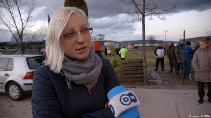 "Preferring to remain anonymous: ""We are not racists"", says this Bosnian woman (photo: Marina Strauss/DW)"