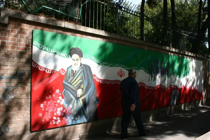 This image of Iran is all too familiar to westerners: anti-U.S. graffiti in Tehran (photo: Marian Brehmer)