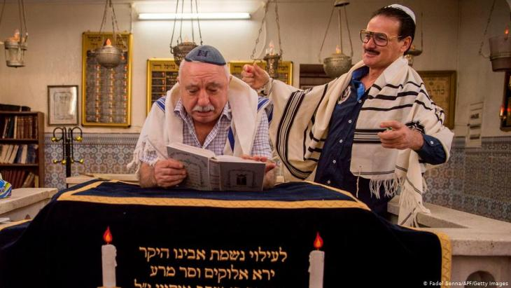 Familiar ties: Israeli-Moroccan ceremony at the Marrakesh synagogue (photo: FadeL/ Senna/ AFP/Getty Images)