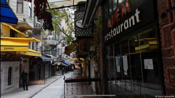 An empty street in Istanbul (photo: Tunca Ogreten/DW)