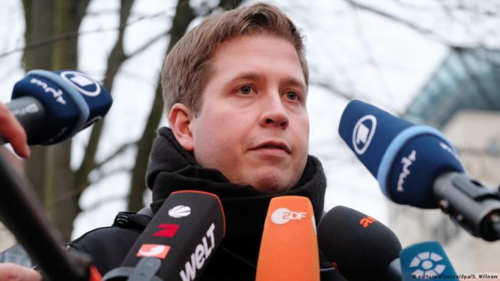 Former chairman of the Young Socialists Kevin Kuhnert has been deputy federal party chairman of the SPD since December 2019 (photo: picture-alliance/dpa/S. Willnow)